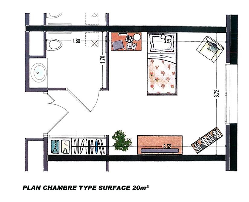 Plan chambre - Les Saisonnales